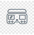 virtual reality concept linear icon isolated on vector image