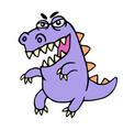 Wild purple cartoon dragon vector image