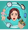 woman housework sadness vector image vector image