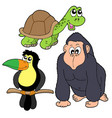 zoo animals collection 4 vector image