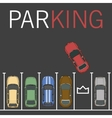 parking lot Car and vector image