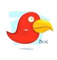 Big red bird vector image