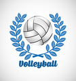 volleyball club design vector image