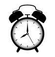 alarm clock black flat outline drawing vector image