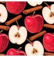 Apple and cinnamon seamless vector image vector image