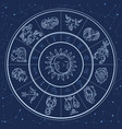 astrology circle magic infographic with zodiac vector image