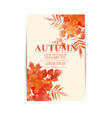 autumn background with orange leaves imitation of vector image vector image