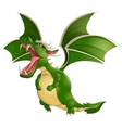 Beautiful dragon on a white background vector image vector image