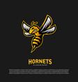 bee logo design hornets logo template icon symbol vector image vector image