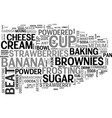 best recipes banana split brownies text word vector image vector image