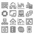 big data and technology icons set vector image