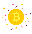 bitcoin digital currency on white background vector image