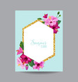 blooming spring and summer tropical floral frame vector image vector image