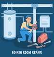 boiler room repair vector image