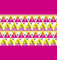 bright fun geometry seamless pattern vector image vector image