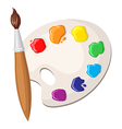 brush palette vector image vector image