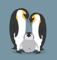 cartoon happy penguins family vector image vector image