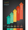 Colorful arrow number options banner template vector | Price: 1 Credit (USD $1)