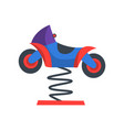 colorful rocking motorcycle on spring funfair vector image vector image
