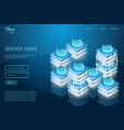 concept of server room rack web hosting and data vector image vector image