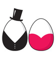 couple eggs icon vector image vector image