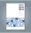 cover annual report 811 vector image