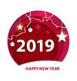 creative happy new year 2019 design happy new vector image vector image