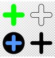 cross eps icon with contour version vector image vector image