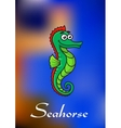 Cute little cartoon seahorse vector image vector image