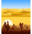Desert landscapes set vector image