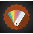Design Color Guide Fan Flat Icon with long shadow