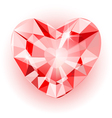 Diamond heart final vector image vector image