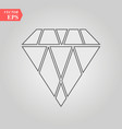 diamond outline icon modern minimal flat design vector image