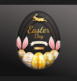 easter day banners template easter eggs gold vector image vector image