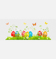 easter eggs hunting vector image vector image
