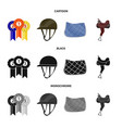 equipment and riding symbol vector image vector image