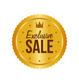 exclusive sale gold sign round label vector image vector image