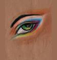 eye hand drawn pastel vector image vector image