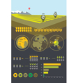 Farming and agriculture infographics vector | Price: 1 Credit (USD $1)