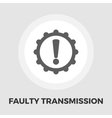 Faulty transmission flat icon vector image vector image