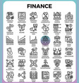 finance line icons vector image vector image