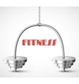 Fitness background vector image