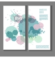 flyer template with splashes and spots of paint vector image