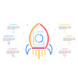 Flying spacecraft drawn with colorful lines and