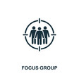 focus group icon premium style design from vector image