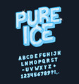 font pure ice vector image vector image