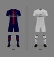 football kit shirt template vector image vector image