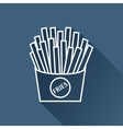 fries icon Eps10 vector image vector image