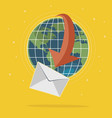 global mail concept vector image