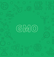 gmo green concept outline frame or vector image vector image